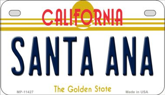 Santa Ana California Novelty Metal Motorcycle Plate MP-11427