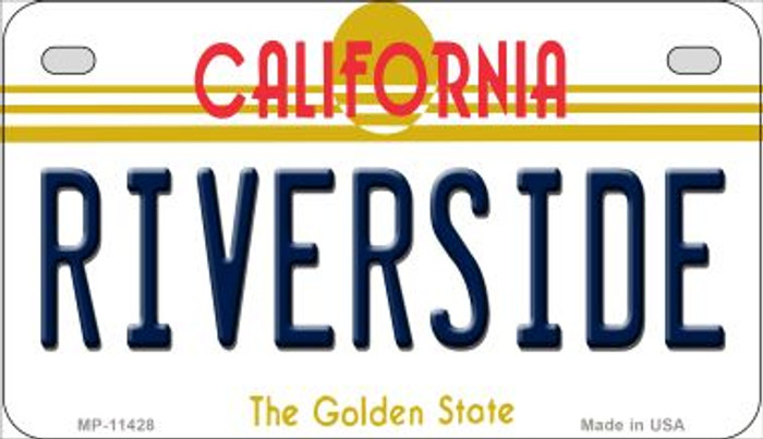 Riverside California Novelty Metal Motorcycle Plate MP-11428