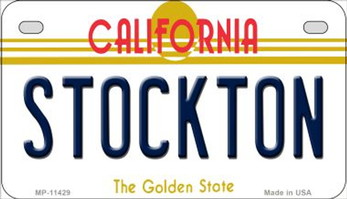 Stockton California Novelty Metal Motorcycle Plate MP-11429