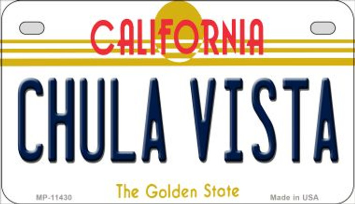 Chula Vista California Novelty Metal Motorcycle Plate MP-11430
