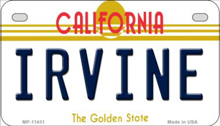 Irvine California Novelty Metal Motorcycle Plate MP-11431