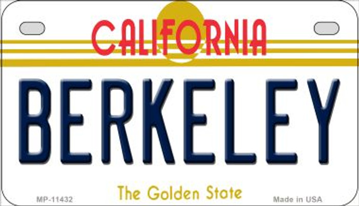 Berkeley California Novelty Metal Motorcycle Plate MP-11432