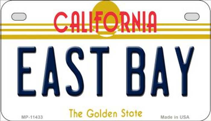 East Bay California Novelty Metal Motorcycle Plate MP-11433