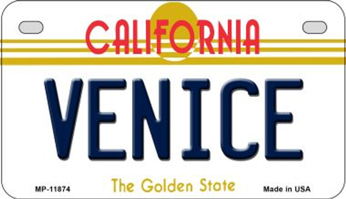 Venice California Novelty Metal Motorcycle Plate MP-11874