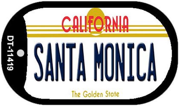 Santa Monica California Novelty Metal Dog Tag Necklace DT-11419