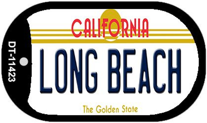 Long Beach California Novelty Metal Dog Tag Necklace DT-11423