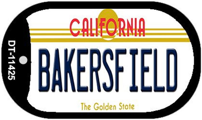 Bakersfield California Novelty Metal Dog Tag Necklace DT-11425