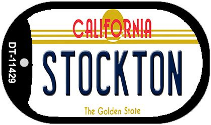 Stockton California Novelty Metal Dog Tag Necklace DT-11429