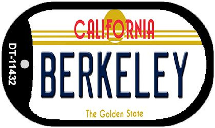 Berkeley California Novelty Metal Dog Tag Necklace DT-11432