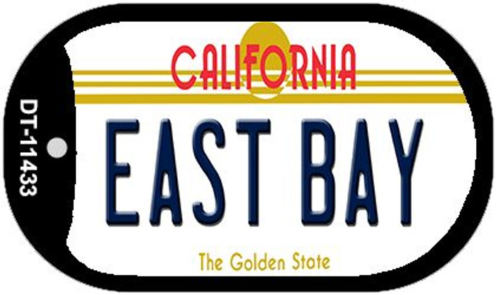 East Bay California Novelty Metal Dog Tag Necklace DT-11433