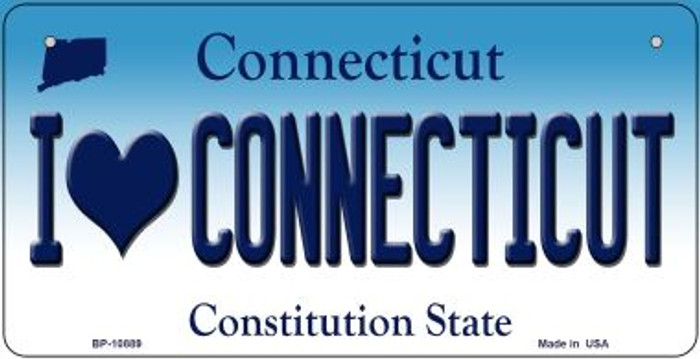 I Love Connecticut Novelty Metal Bicycle Plate BP-10889