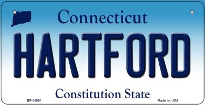 Hartford Connecticut Novelty Metal Bicycle Plate BP-10891