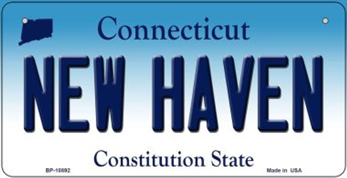 New Haven Connecticut Novelty Metal Bicycle Plate BP-10892