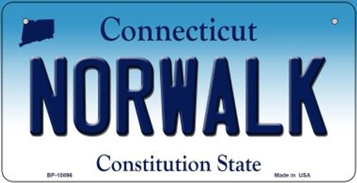 Norwalk Connecticut Novelty Metal Bicycle Plate BP-10896