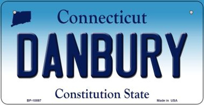 Danbury Connecticut Novelty Metal Bicycle Plate BP-10897