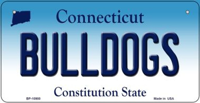 Bulldogs Connecticut Novelty Metal Bicycle Plate BP-10900