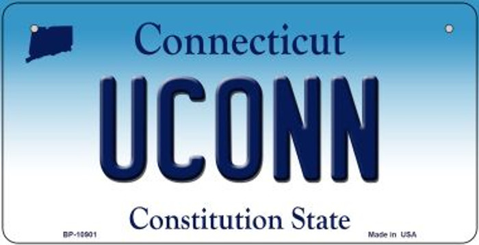 Uconn Connecticut Novelty Metal Bicycle Plate BP-10901