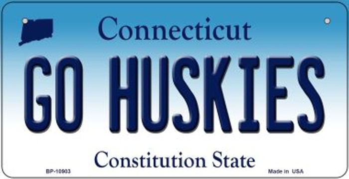 Go Huskies Connecticut Novelty Metal Bicycle Plate BP-10903