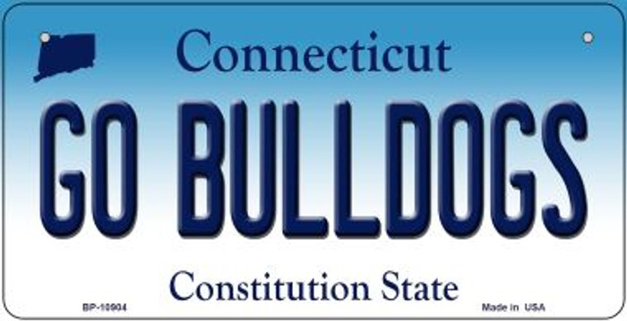 Go Bulldogs Connecticut Novelty Metal Bicycle Plate BP-10904