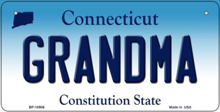 Grandma Connecticut Novelty Metal Bicycle Plate BP-10906