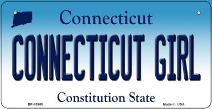 Connecticut Girl Novelty Metal Bicycle Plate BP-10908