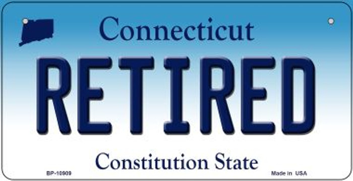 Retired Connecticut Novelty Metal Bicycle Plate BP-10909
