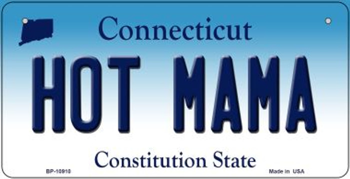 Hot Mama Connecticut Novelty Metal Bicycle Plate BP-10910