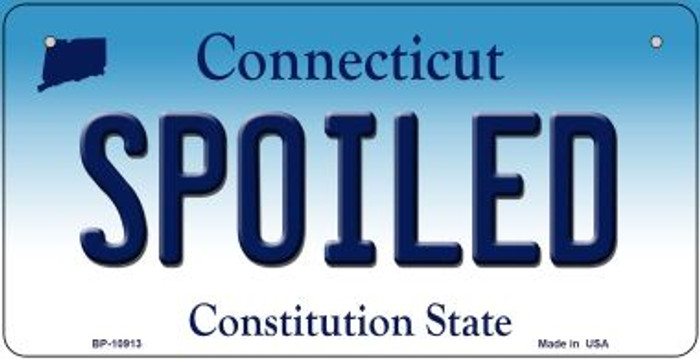 Spoiled Connecticut Novelty Metal Bicycle Plate BP-10913