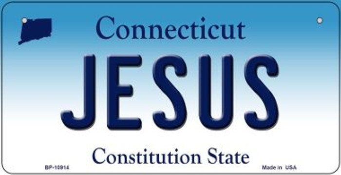 Jesus Connecticut Novelty Metal Bicycle Plate BP-10914