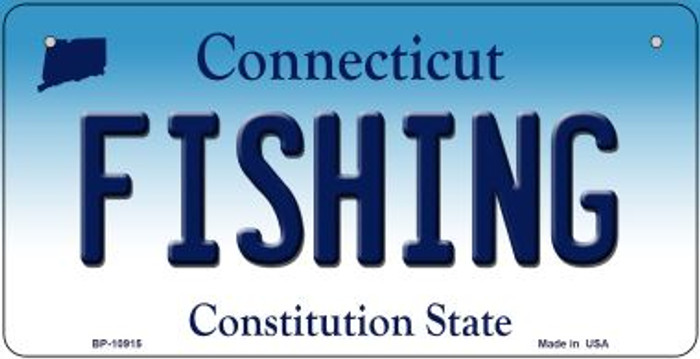 Fishing Connecticut Novelty Metal Bicycle Plate BP-10915