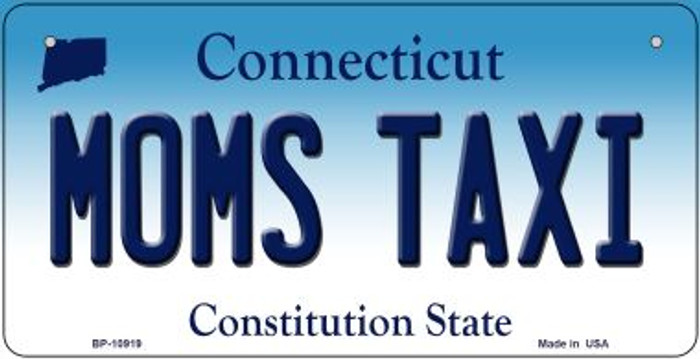 Moms Taxi Connecticut Novelty Metal Bicycle Plate BP-10919