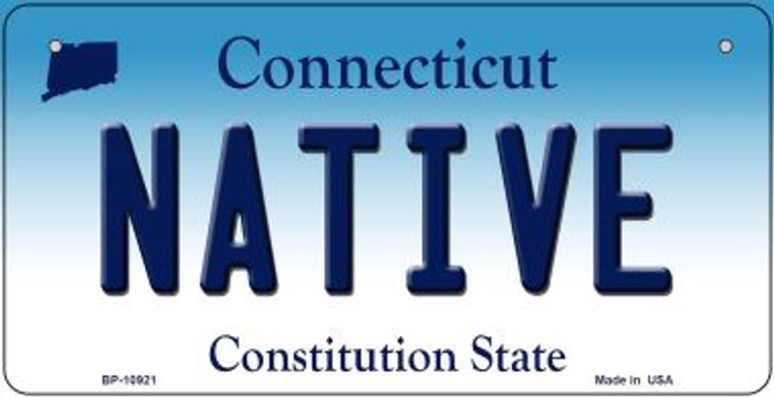 Native Connecticut Novelty Metal Bicycle Plate BP-10921