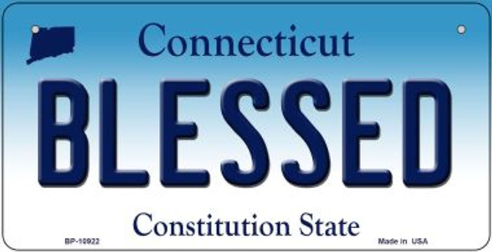 Blessed Connecticut Novelty Metal Bicycle Plate BP-10922