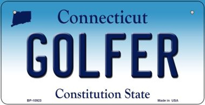 Golfer Connecticut Novelty Metal Bicycle Plate BP-10923