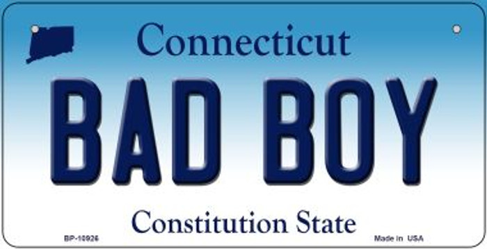 Bad Boy Connecticut Novelty Metal Bicycle Plate BP-10926