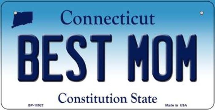 Best Mom Connecticut Novelty Metal Bicycle Plate BP-10927