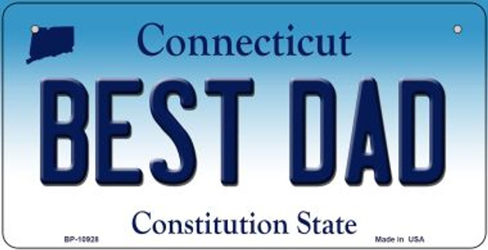 Best Dad Connecticut Novelty Metal Bicycle Plate BP-10928