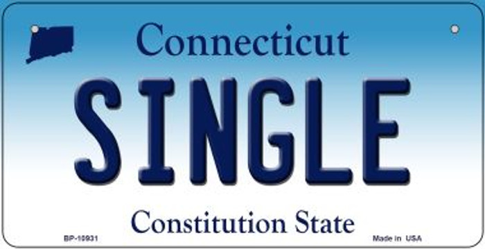 Single Connecticut Novelty Metal Bicycle Plate BP-10931