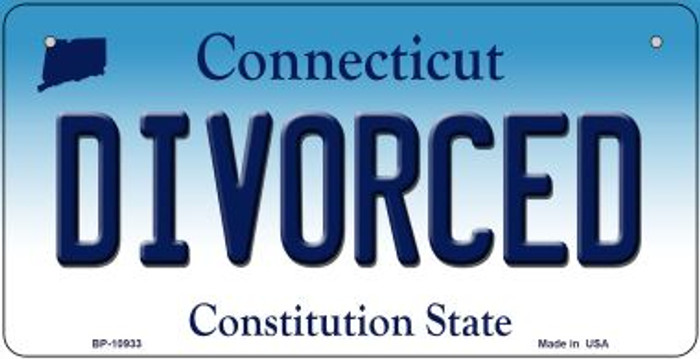 Divorced Connecticut Novelty Metal Bicycle Plate BP-10933