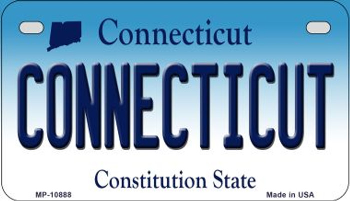Connecticut Novelty Metal Motorcycle Plate MP-10888