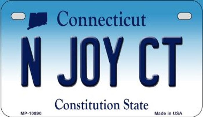 N Joy CT Connecticut Novelty Metal Motorcycle Plate MP-10890