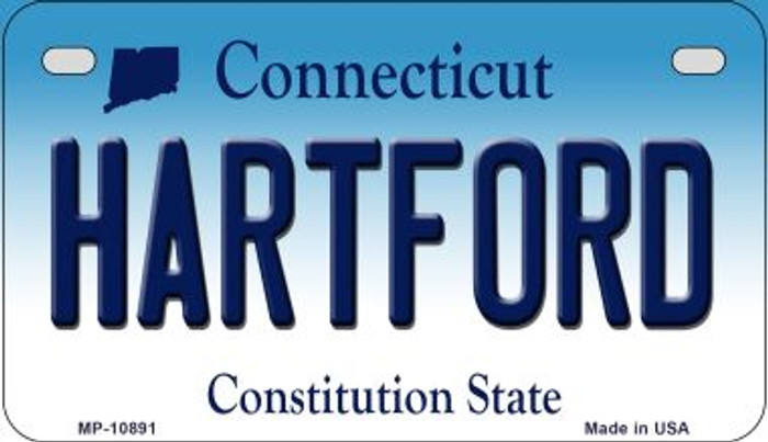 Hartford Connecticut Novelty Metal Motorcycle Plate MP-10891