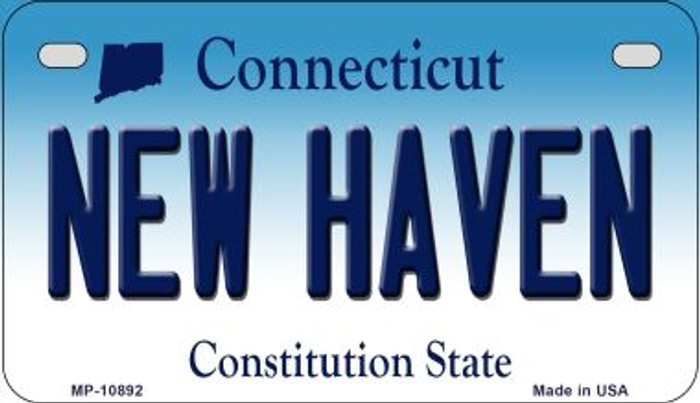 New Haven Connecticut Novelty Metal Motorcycle Plate MP-10892