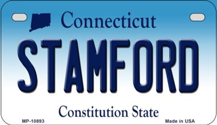 Stamford Connecticut Novelty Metal Motorcycle Plate MP-10893
