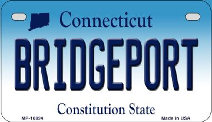 Bridgeport Connecticut Novelty Metal Motorcycle Plate MP-10894