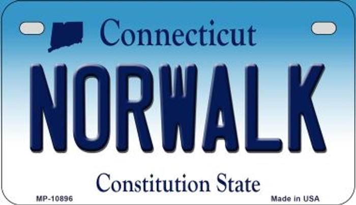 Norwalk Connecticut Novelty Metal Motorcycle Plate MP-10896