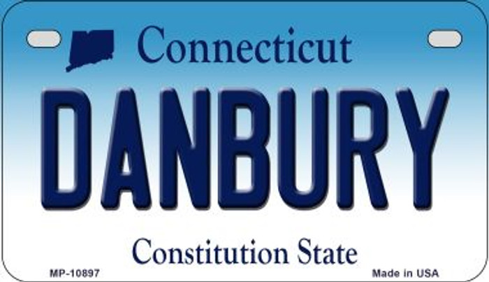 Danbury Connecticut Novelty Metal Motorcycle Plate MP-10897