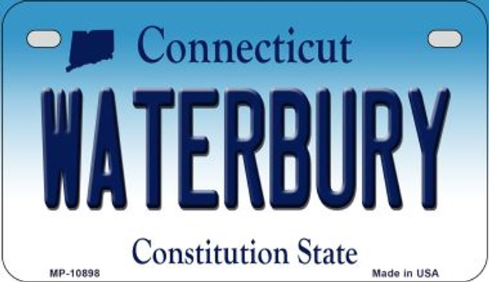 Waterbury Connecticut Novelty Metal Motorcycle Plate MP-10898