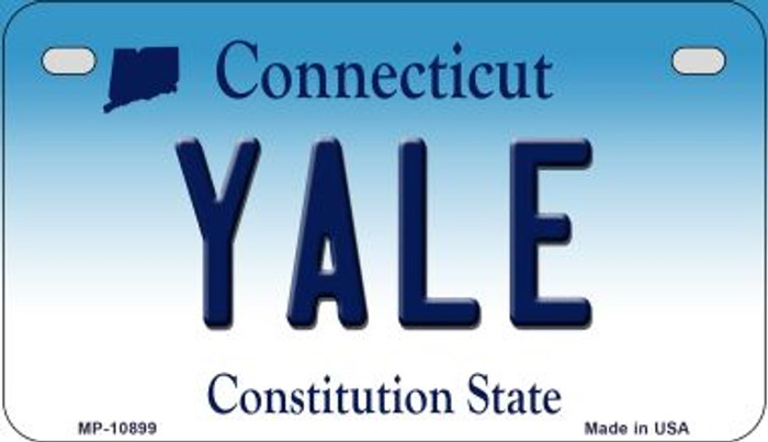 Yale Connecticut Novelty Metal Motorcycle Plate MP-10899