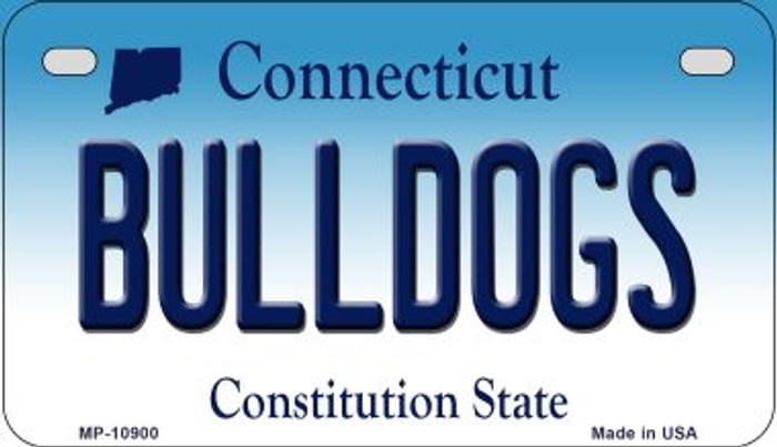 Bulldogs Connecticut Novelty Metal Motorcycle Plate MP-10900